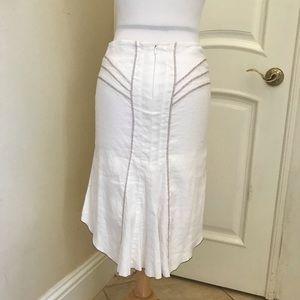 Bebe hi low linen skirt